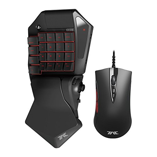 HORI Tactical Assault Commander Pro (TAC Pro) KeyPad and Mouse Controller for PS4 and PS3 FPS Games Officially Licensed by Sony - PlayStation 4 (Fps Game Controller compare prices)