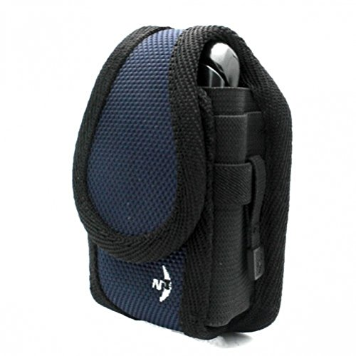 Navy-Black Nite Ize Rugged Cargo Case Belt Clip Holster Cover for Boost Mobile Sanyo Innuendo - Boost Mobile Sanyo Mirro SCP-3810 - Sanyo Incognito SCP-6760 - Cricket Blackberry Curve 9350 (Boost Mobile Innuendo compare prices)