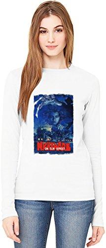 Nightmare on elm street T-Shirt da Donna a Maniche Lunghe Long-Sleeve T-shirt For Women| 100% Premium Cotton Ultimate Comfort Medium