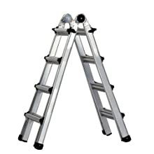 Cosco 20-417T1AS Worlds Greatest Multi-Position Type 1A Ladder, 17-Foot, Aluminum