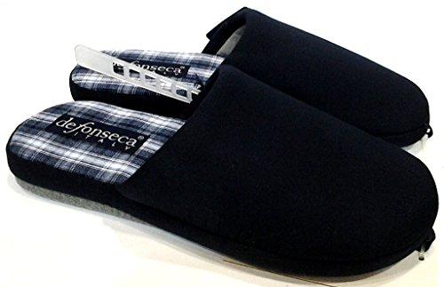 DE FONSECA pantofole ciabatte da uomo in cotone mod. QUADRO BLU (39/40)