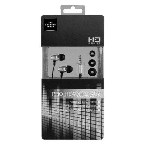 The Sharper Image Shp1103 Metal 3.5Mm Headset - Retail Packaging - Silver