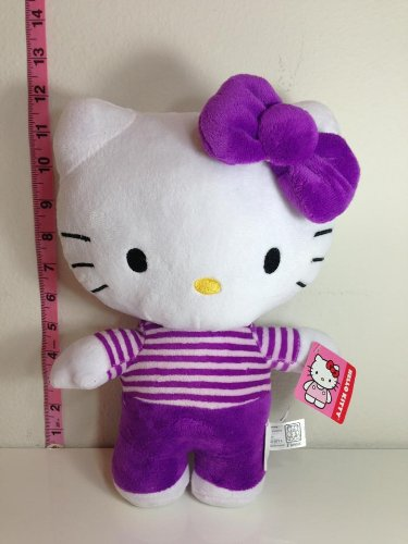 Hello Kitty Plush Doll Toy - Purple Dress - 1