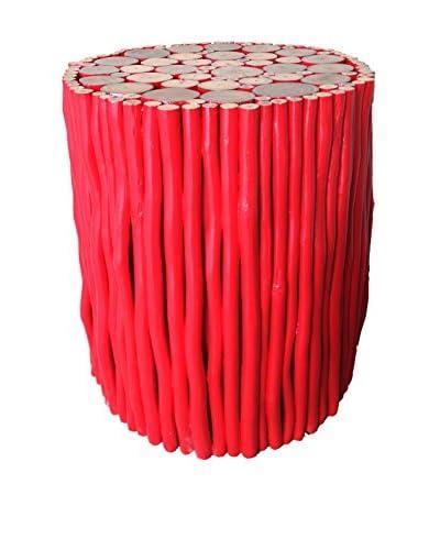 Asian Art Imports Red Stick Stool