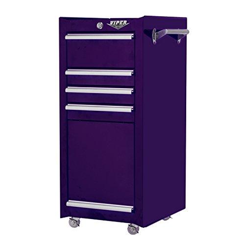 Storage Cabinet Large 4 Drawer 16 Inch Purple Box Steel