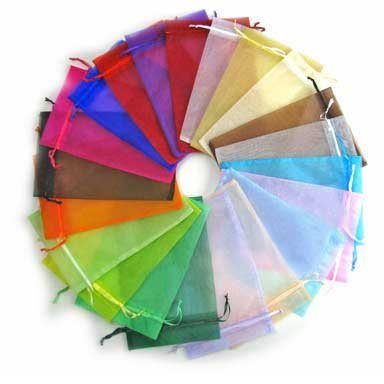 Yansanido 13x18cm /5x7 Inches 100pcs Beautiful Transparent 10 Color Organza Drawstring Pouches candy Jewelry Party Wedding Favor Gift Bags Pouch Bags (10 Colors 5*7inches)