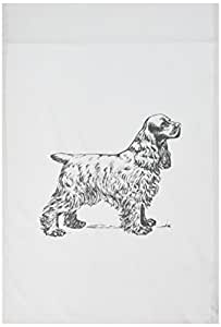 3dRose fl_80424_1 Vintage Drawing of a Cocker Spaniel Garden Flag, 12 by 18-Inch