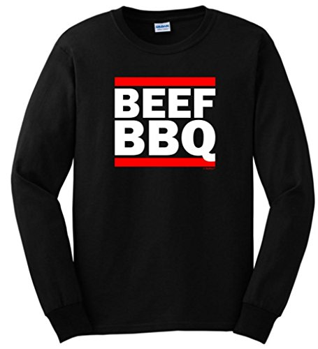 Beef Bbq Funny Barbeque Gift Long Sleeve T-Shirt Large Black