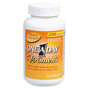One-A-Day Women's Multivitamin, 250-Count Bottles