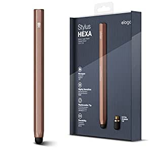 elago Stylus Hexa for iPhone 5S/4S/3GS, iPad and Galaxy -World First Replaceable Tip (Extra Rubber Tip included) (Chocolate)