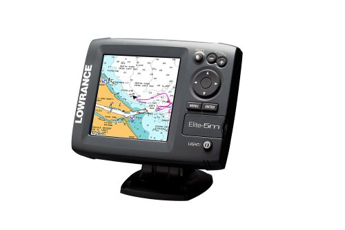 Lowrance 103-001 Elite 5-Inch Color LCD GPS/Chartplotter with Navionics, Gold