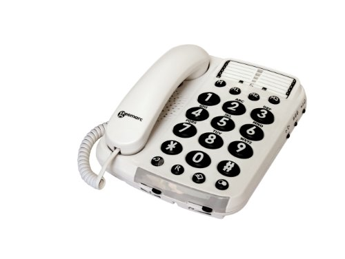 Geemarc Dallas 100 VM Loud big button corded telephone  with Voice Modulation-  UK Version Reviews