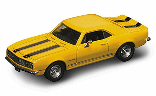 1967 Chevy Camaro Z28, Yellow w/ Stripes - Yatming 94216 - 1/43 Scale Diecast Model Toy Car (Yellow Camaro Bumblebee compare prices)
