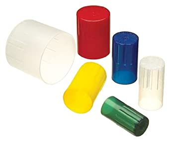 Kimax Autoclavable Polypropylene Test Tube Closure, Natural Cap Color