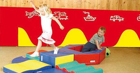 7er Set Wandmatten - unterschiedliche Motive - blau oder rot