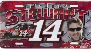 Buy LP-TS10 Tony Stewart 6 x 12 metal license plate featuring a laser burned photographic image. by NASCAR