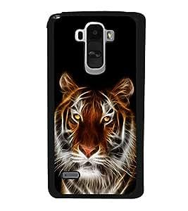 printtech Tiger Face Streak Design Back Case Cover for LG G4 Stylus ,Versions: H631 (T-Mobile); MS631 (Metro PCS); H635 (EMEA); H540 (UAE); H630D (India); H542 (Mexico)