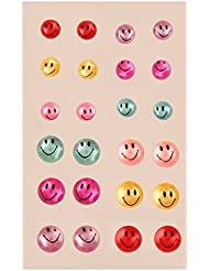 AccessHer Multicolor Smiley Pearl Stud Earring For Women
