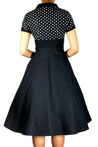 pretty kitty fashion 50s schwarz weiss polka dot retro kleid uk 22 ...