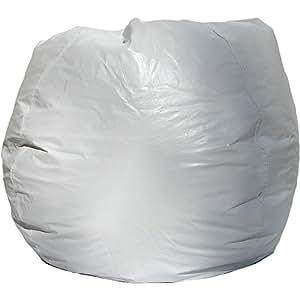 Bean Bag Chair w Double Zipper in White