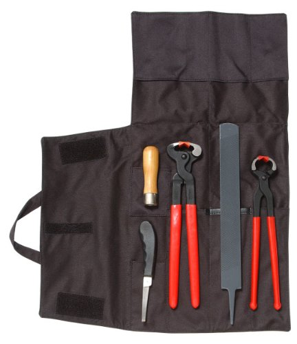 5 Piece Farrier Tool Kit By Farrier Craft - Black