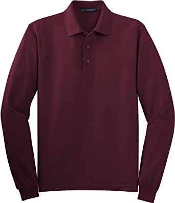 Buy Port Authority Mens Silk Touch Classic Polo Sport Shirt. K500LS by Port Authority