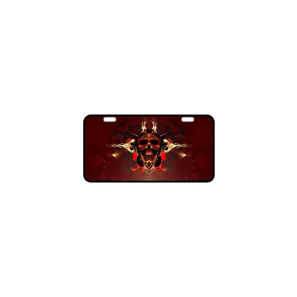 Skull Metal License Plate Frame LP 369