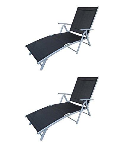 2 x Luxus Deckchair