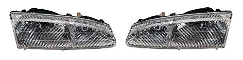 96-97 Ford Thunderbird Headlight Headlamp Pair Set 96 97 Mercury Cougar Driver and Passenger (Ford Thunderbird Headlights compare prices)