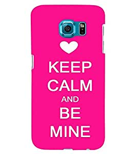 printtech Be Mine Back Case Cover for Samsung Galaxy S6 Edge::Samsung Galaxy Edge G925