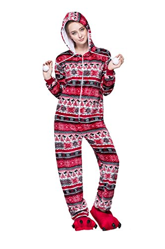 honeystore erwachsene unisex kost m pyjama tieroutfit tierkost me rot vogel tier onesize. Black Bedroom Furniture Sets. Home Design Ideas