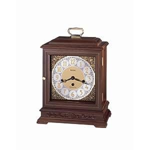 Bulova B1916 Traemore Mantel Clock Walnut Home Kitchen