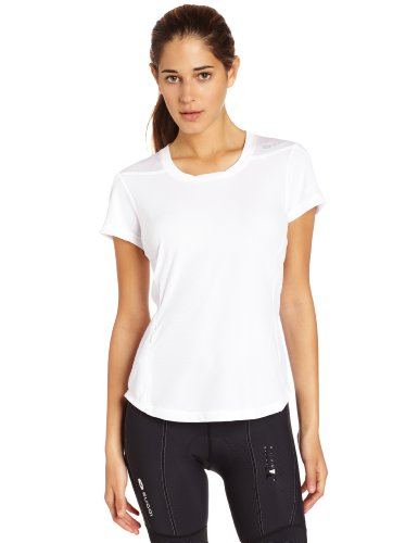 Sugoi Women's Verve Short Sleeve Shirt, White, XX-Large