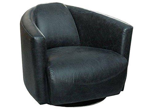 """?Clubsessel Drehsessel """"Mero"""" schwarz Kunstleder? PU-Ledersessel Vintage Lounge Sessel Cocktailsessel Bürosessel"""