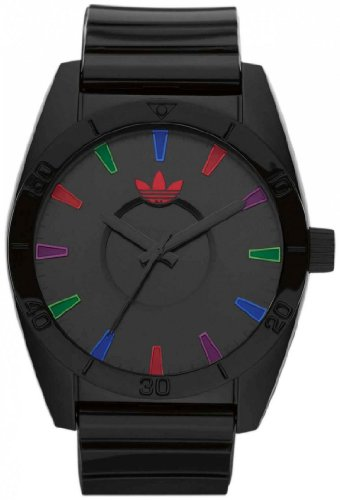 Adidas Men's Melbourne ADH2654 Black Polyurethane Quartz Watch with Black Dial