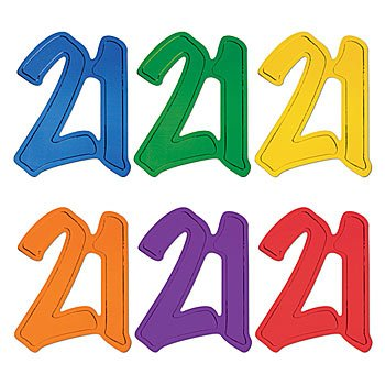 '21' foil silhouette