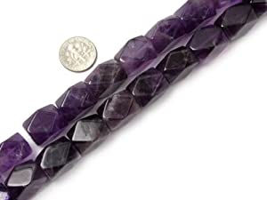 "13X18mm Faceted amethyst Beads Strand 15"" Jewelry Making Beads"