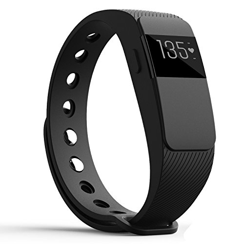 Heart Rate Monitor Fitness Trackers,007plus Bluetooth 4.0 Pedometers Sleep Monitor Activity Trackers for Android iOS Smartphone (Black)