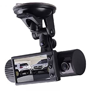R310 2.7-inch 140 degrees Dual Lens dash board camera car dvr black box video recorder + gps logger from wansun