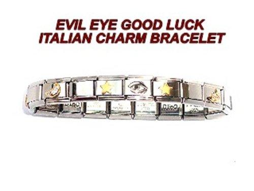 Evil Eye Italian Charm Bracelet