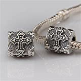 Cross Authentic 925 Sterling Silver Bead Fits Pandora Chamilia Biagi Troll Charms Europen Style Bracelets