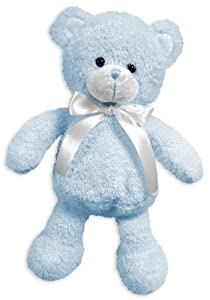 Stephan Baby Super Soft Shaggy Plush Floppy Bear, Blue