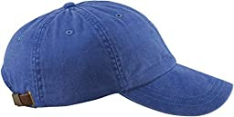 Adams AD969 6-Panel Low-Profile Pigment-Dyed Cap - Royal - One Size