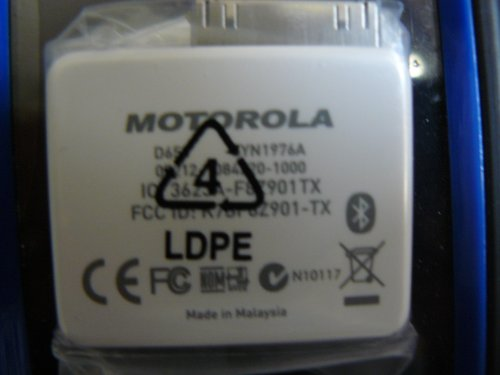 Motorola D650 Bluetooth Adapter For Ipod - Syn1976A Brand New Original