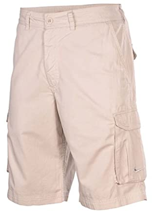 Nike Mens Sport Casual Cargo Walking Shorts-Light Beige by Nike