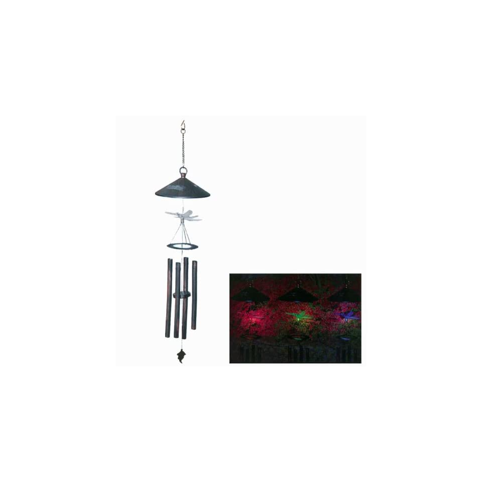 Dragon Solar LED Wind Chimes   Multi colored LED Wind Chimes