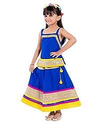 Home Shop Gift Blue Cotton Lehenga Choli For Kids ( Baby Girl ) Size Lehenga Length-10 inches - Waist-20 inches Size Choli - Length- 14 inches- Cheast-20 inches