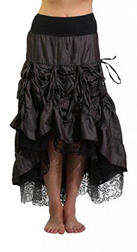 Mishu-Womens-M123-Denim-and-Lace-Skirt