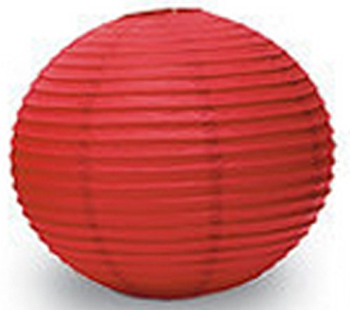 Anleolife 8 inch Red Paper Lanterns/Chinese Hanging Wedding Lanterns 10pcs Round Paper Lantern (hot red, 8'') (Rice Paper Lantern 12 compare prices)