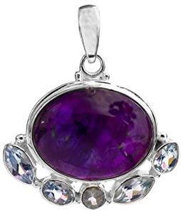 Amethyst Pendant with BT - Sterling Silver